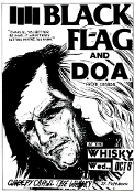 BLACK FLAG & DOA - AT THE WHISKY A GOGO POSTER