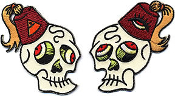 EMBROIDERED PATCH - DAN COLLINS FEZZY SKULL SET