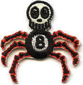 EMBROIDERED PATCH - VON SPOON 8 BALL SPIDER