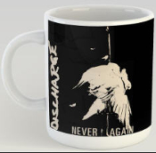 DISCHARGE - NEVER AGAIN MUG