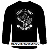 AGNOSTIC FRONT - SKINHEAD LONG SLEEVE TEE SHIRT