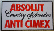 ANTI CIMEX - ABSOLUT COUNTRY OF SWEDEN PATCH