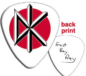 DEAD KENNEDYS - WHITE GUITAR PICKS (PACK OF 12)