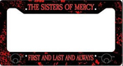 SISTERS OF MERCY - FIRST & LAST & ALWAYS LICENSE PLATE