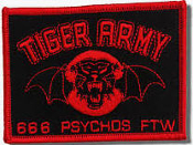 TIGER ARMY - 666 PSYCHO FTW PATCH