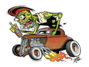 PIZZ STICKER - ZOMBIE ROD STICKER