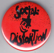 SOCIAL DISTORTION - LOGO BUTTON / BOTTLE OPENER / KEY CHA
