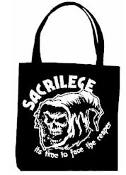 SACRILEGE - IT'S TIME TO FACE THE REAPER TOTE BAG