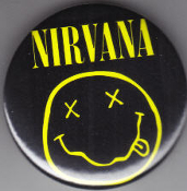 NIRVANA - LOGO BUTTON PIN / BOTTLE OPENER / KEY CHAIN / BOTT