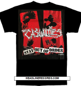 CASUALTIES - STAY OUT OF ORDER TEE SHIRT
