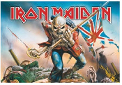 IRON MAIDEN - FLAG TROOPER FABRIC POSTER FLAG