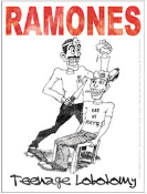 RAMONES - TEENAGE LOBOTOMY STICKER