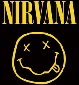 NIRVANA - NIRVANA + LOGO STICKER
