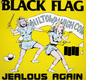 BLACK FLAG - JEALOUS AGAIN STICKER