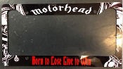 MOTORHEAD - BORNTO LOSE LIVE TO WIN LICENSE PLATE