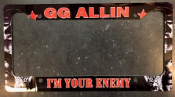 GG ALLIN - I'M YOUR ENEMY LICENSE PLATE