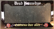 DEAD KENNEDYS - CALIFORNIA UBER ALLES LICENSE PLATE