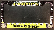 CRAMPS - BAD MUSIC FOR BAD PEOPLE LICENSE PLATE