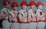 DEVO - GROUP WHITE / RED COUNTER TOP POSTER