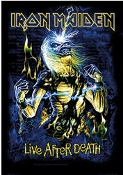 IRON MAIDEN - LIVE AFTER DEATH FABRIC POSTER