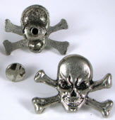 PIRATE SKULL & CROSSBONES W/ SCREW (BY UNIT) - FREE SHIPPING