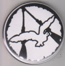 BUTTON - DOVE / BOTTLE OPENER / KEY CHAIN / MAGNET