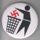 BIG BUTTON - TRASH SWASTIKA BUTTON / BOTTLE OPENER / KEY CHAIN