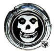 MISFITS - SKULL GLASS ASHTRAY