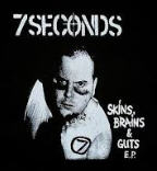 7 SECONDS - SKINS BRAINS & GUTS BACK PATCH