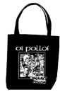 OI POLLOI - PUNX N SKINS AGAINST FASCISM TOTE BAG