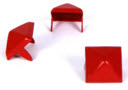 LARGE RED PYRAMID STUDS (PACK OF 20)