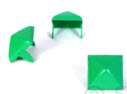 LARGE GREEN PYRAMID STUDS (PACK OF 20)