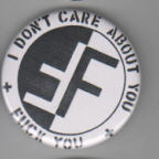 FEAR - I DON'T CARE ABOUT YOU BUTTON / BOTTLE OPENER / KEY CHAIN