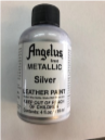 LEATHER PAINT METALLIC SILVER ACRYLIC