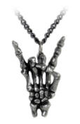 "NECKLACE - SKELETON DEVIL ""HORN"" FINGER"